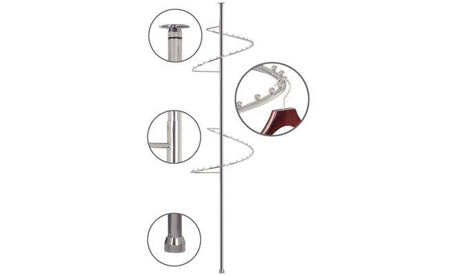 Спиральная штанга для одежды, поворотная 360, высота 1310-15.