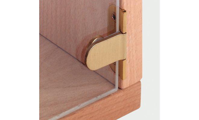 Петля для стеклянных дверей толшина до 6 мм, для сверления (.